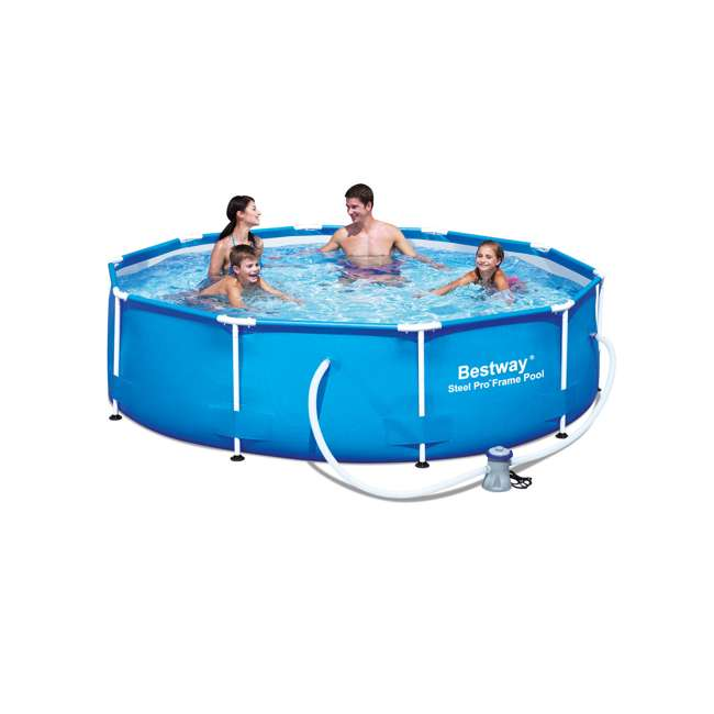 """56407E Bestway 10' x 30"""" Steel Pro Frame Above Ground Pool (2 Pack) 2"""