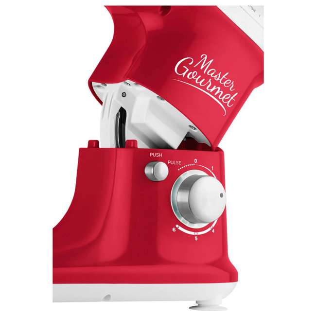STM3624RD-NAA1 Sencor STM 3624RD 4.2 Quart 6 Speed Food Mixer with Stainless Steel Bowl, Red 3