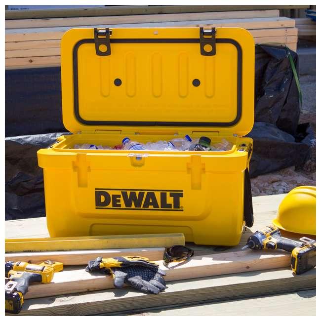DXC45QT DeWalt 45 Quart Insulated Lunch Box Portable Drink Cooler, Yellow