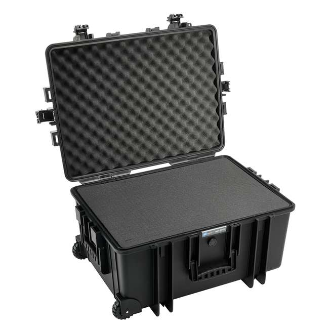6800/B/RPD B&W International 6800/B/RPD 70.9 L Plastic Outdoor Case w/ Wheels & RPD Insert 1