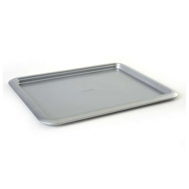 """3877 Norpro Non Stick 16.5"""" Steel Rimmed Full Baking Cookie Sheet, Silver (2 Pack) 1"""