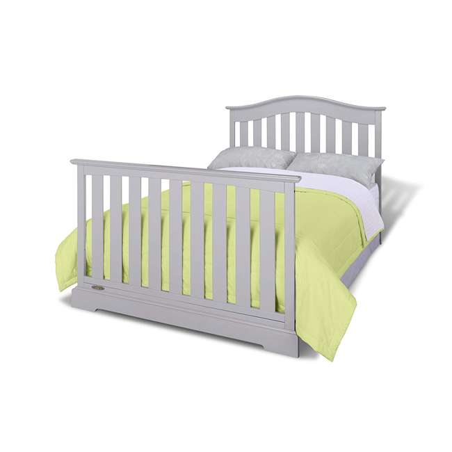 04550-04F + 06711-300 Graco Westbrook 4-in-1 Crib in Pebble Gray w/ Foam Mattress 3