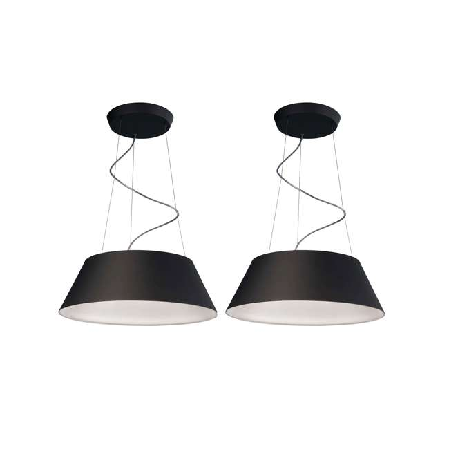 PLC-405503048 Philips 405503048 Ledino Cielo Pendant Light, Black (2 Pack)