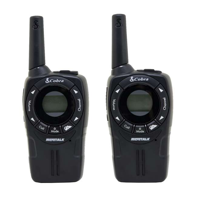 CXT235 Cobra CXT235 MicroTalk 20 Mile FRS/GMRS Walkie Talkie 2-Way Radios (2) + Headsets (2) 1