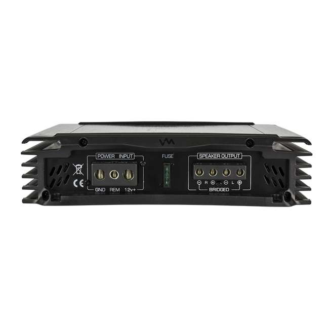 VM-SRA500.2 + VM-SRPK8R + VM-SRCAP4.5 VM Audio SRA500.2 500W 2 Channel Amplifier with 8 Gauge Wiring Kit and 4.5 Farad Capacitor 4