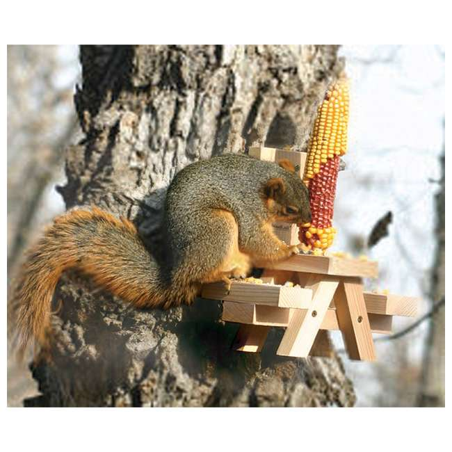 24703 Woodlink Wooden Mini Picnic Table 1 Ear Corn Cob Squirrel Feeder Feeding Station 1