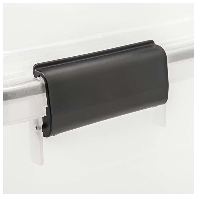 585430 IRIS USA 30-Quart Stackable Plastic WEATHERTIGHT Clear Storage Box, 6 Pack 4