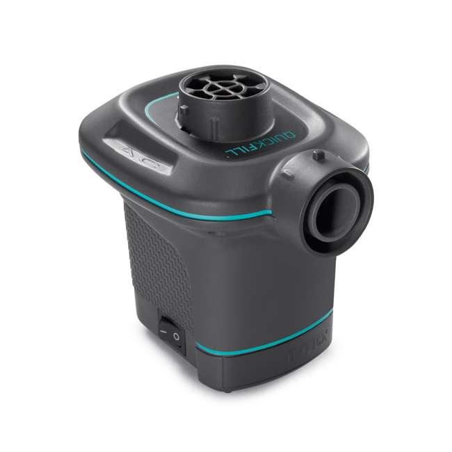 68575VM + 66639E Intex Inflatable Corner Sofa w/ Quick Fill AC Electric Air Pump 2