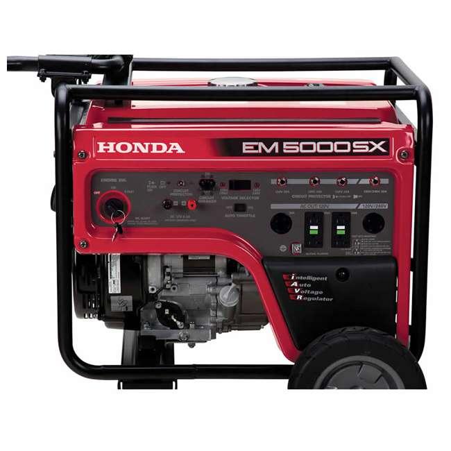 EM5000SXK3 Honda EM5000SXK3 5,000 Watt Portable Electric Commercial Engine Power Generator 1