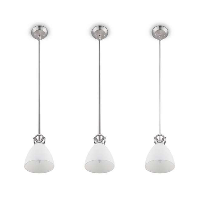3 x PLC-TC0024217 Philips Maurice 1-Light Ceiling Pendant Fixture, Brushed Nickel (3 Pack)