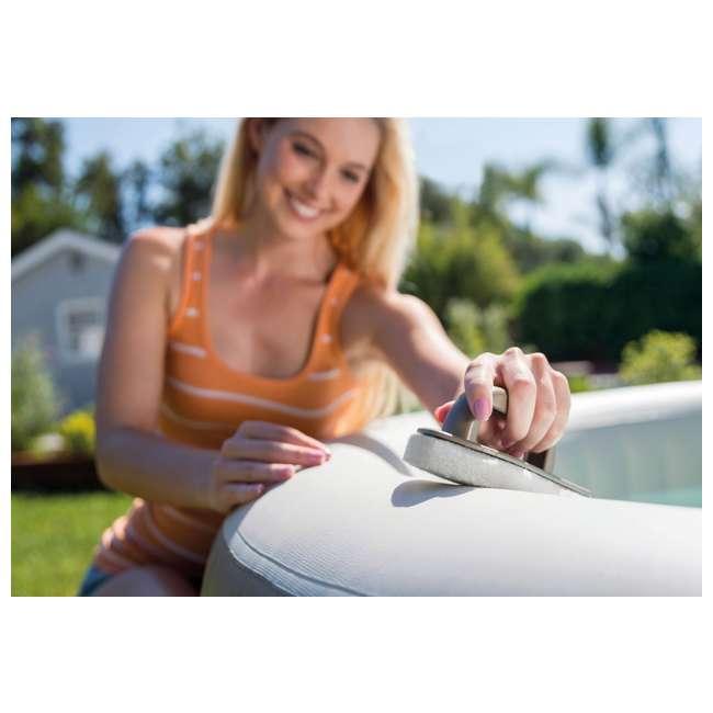 28004E + 28407E Intex Inflatable Pure Spa 6-Person Portable Heated Jet Hot Tub & Maintenance Kit 5