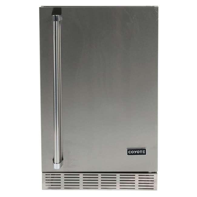 CBIR-R Coyote Outdoor 21 Inch Steel Built In Right Hinge Outdoor Refrigerator, Silver