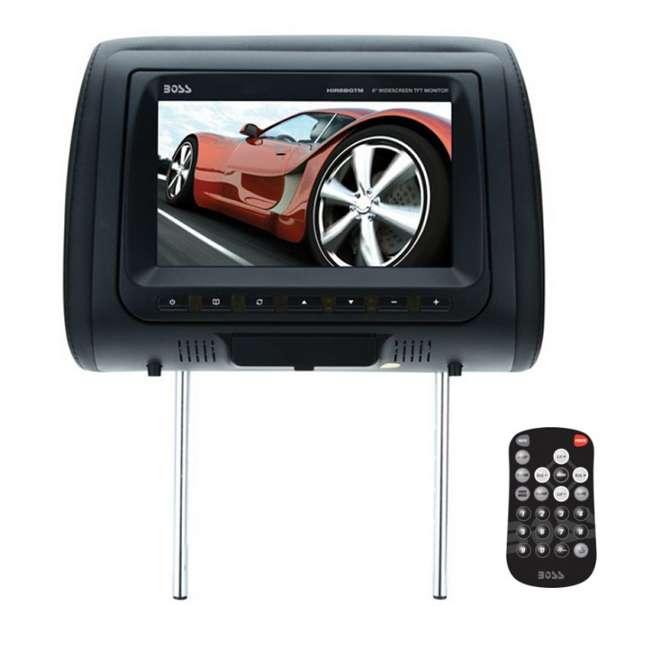 HIR8BGTM Boss Audio HIR8BGTM 8-Inch Tft Headrests Video Monitors with Black/Tan/Gray Skins (Pair) 1