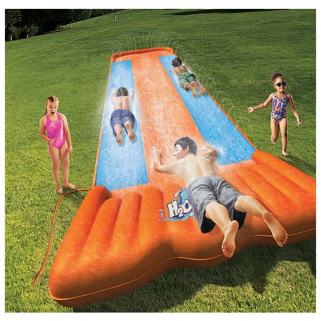 Inflatable Slide Walmart: Bestway H2O Go Triple Slider Kids Outdoor 3-Person Water