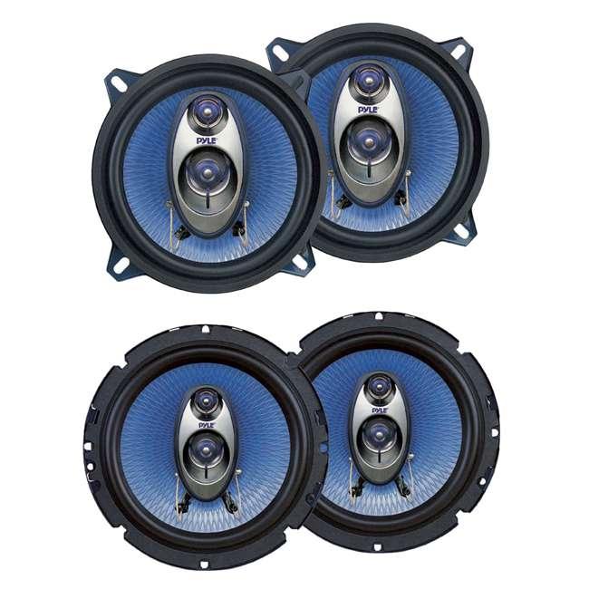PL63BL + PL53BL Pyle PL63BL 6.5-Inch 360W 3-Way with PL53BL 5.25-Inch 200W Coaxial Speakers (Pair)