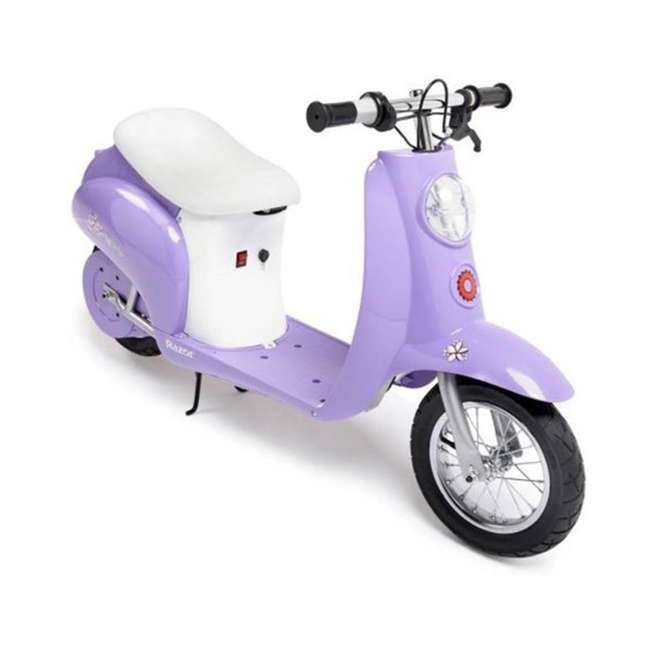 15130661 + 97784 Razor Pocket Mod Electric Powered Kids Retro Scooter & Helmet 4