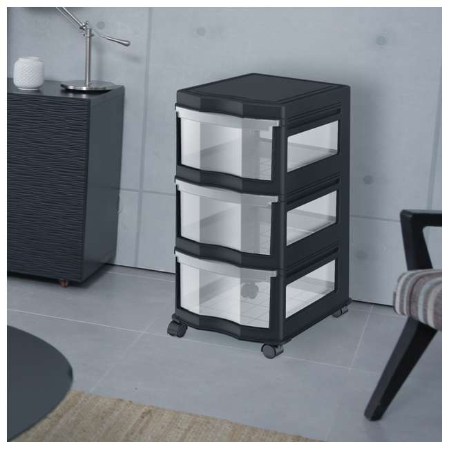 3 x DRW3-M-BL Life Story Classic 3-Shelf Storage Organizer Drawers, Black (3 Pack) 5