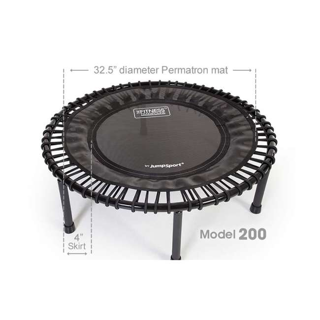 RBJ-S-20820-01 JumpSport 200 In Home Cardio Fitness Rebounder Mini Trampoline and DVD, Black 2