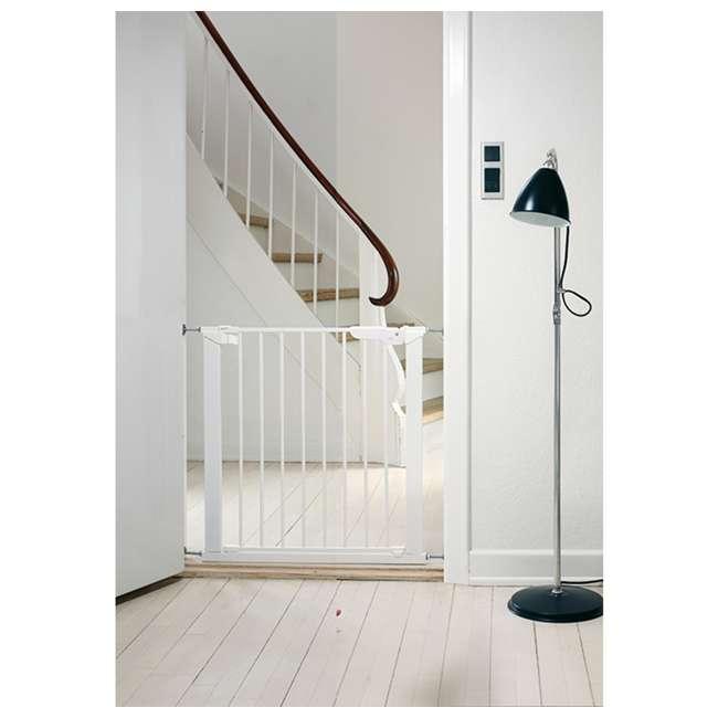 BBD-60114-5492 BabyDan Premier True Pressure Fit 28.9-36.7 Inch Doorway Safety Baby Gate, White 5