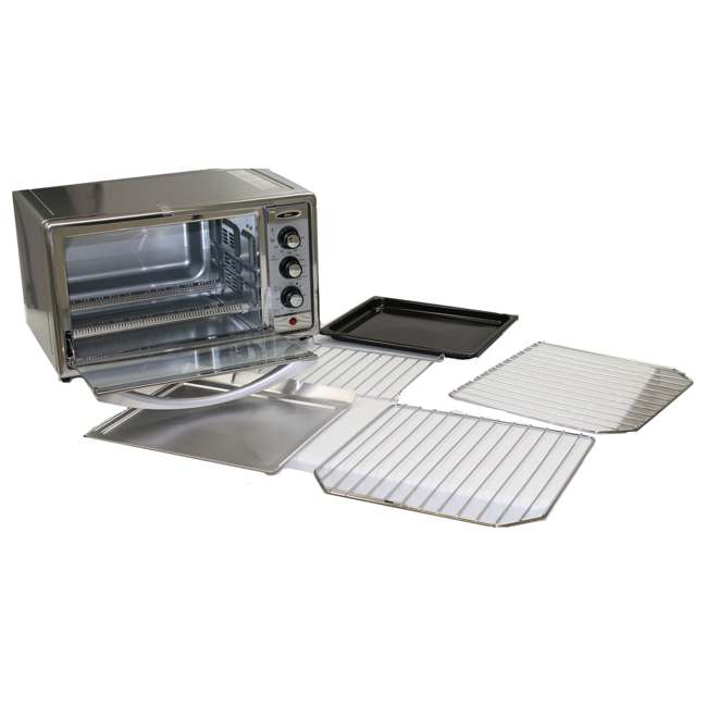 Oster 6 Slice Brushed Stainless Steel Convection Toaster