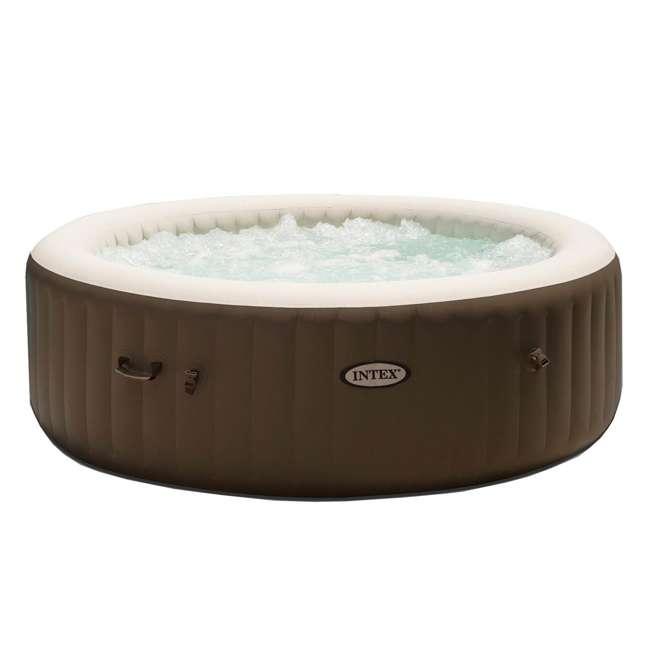 28407VM + 28500E + 2 x 28501E Intex PureSpa 6 Person Inflatable Hot Tub & Cup Holder & Headrest (2 Pack) 1