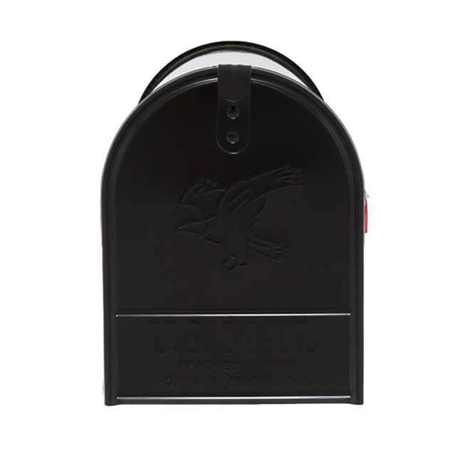 E1600B00-U-B Gibraltar Mailboxes Elite Steel Large Post Mount Mailbox, Black (Used) 2