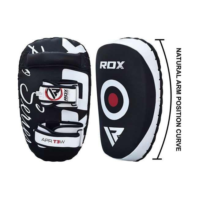 APR-T3W-PAIR RDX T3 Orbit Pro Fighter Training Thai Kickboxing Pads, Black 4