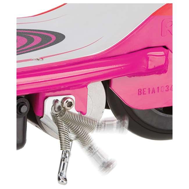 13111269 + 97783 Razor E175 Electrical Kids Scooter in Pink & V17 Sport Helmet in Satin Pink 5