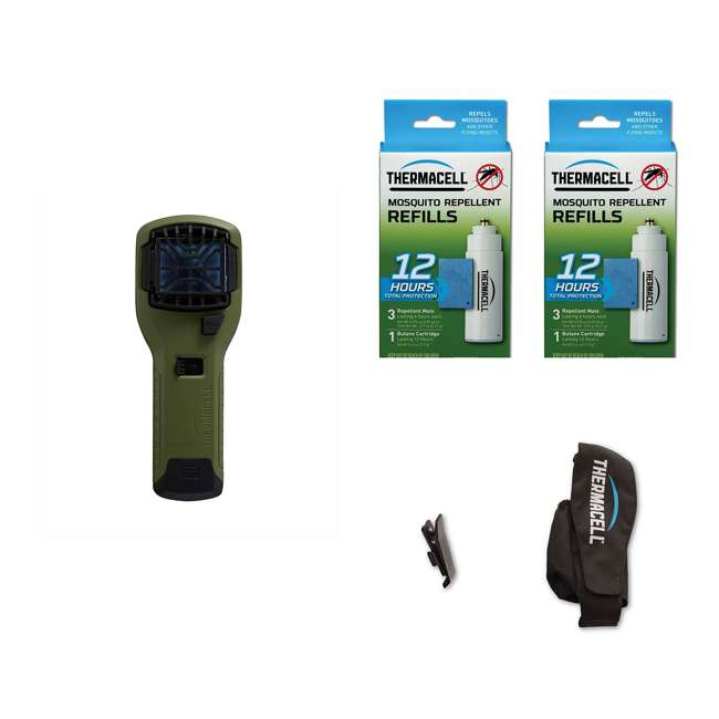 MR300G + 2 x R-1 + APCL Thermacell MR300G Mosquito Repellent & 12-Hour Refill Pack (2 Pack) & Holster