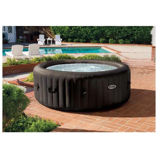 intex pure spa 4 person inflatable portable hot tub 28421e. Black Bedroom Furniture Sets. Home Design Ideas