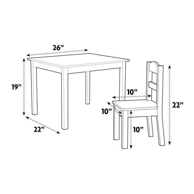 TC727 - Friends Tot Tutors Friends Collection Kids Wood Table & 4 Chair Set, White/Pink & Purple 5