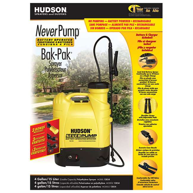 HDH-13854 Hudson  NeverPump Bak-Pak Battery Powered Sprayer  1