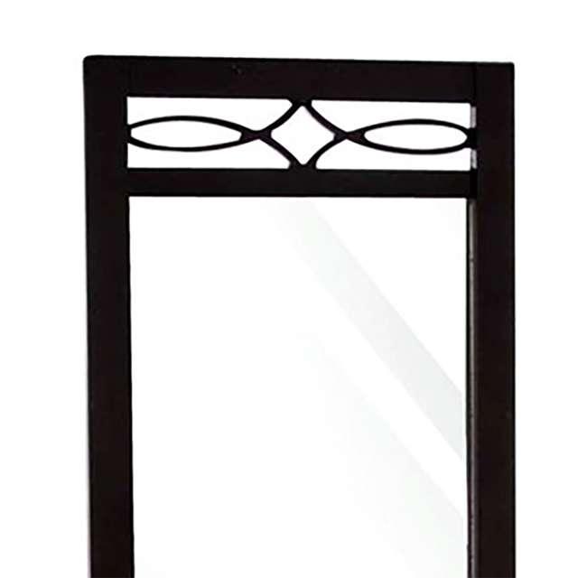 SC-MI12156 Abode 84 Full Length Wood Cheval Dressing Mirror, Mahogany 2