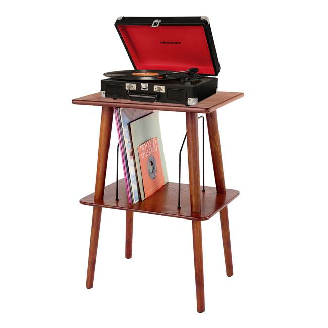 ST66-PA Crosley Manchester Hardwood Turntable Stand, Paprika 1
