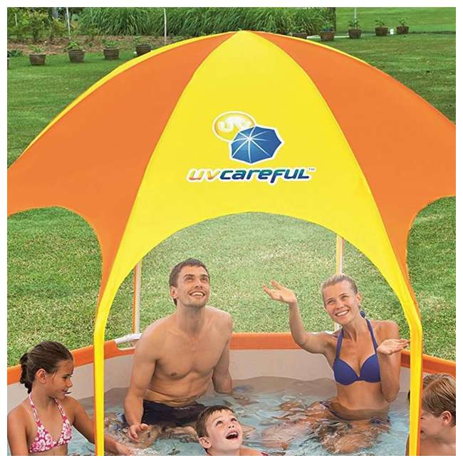 "56543-BW-U-A Bestway  8' x 20"" Splash Shade Kids' Spray Pool with Canopy  (Open Box) (2 Pack) 4"