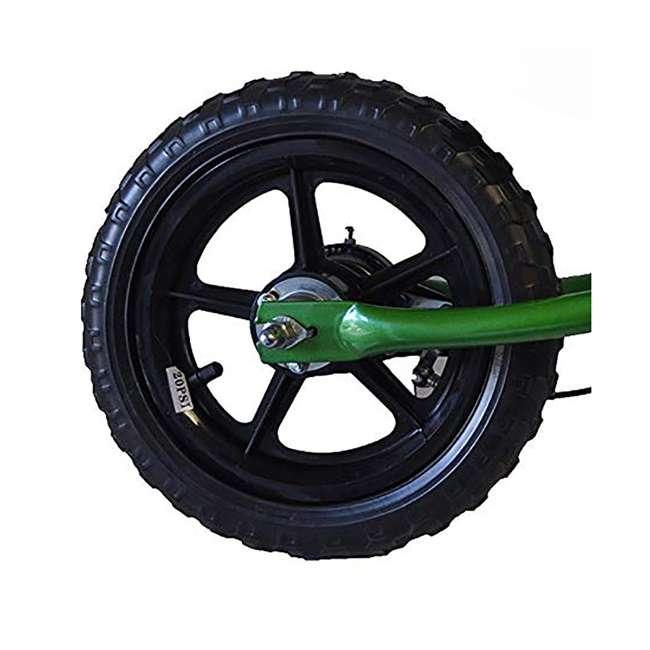 EG12-G Glide Bikes Ezee Glider Unisex Sleek Kids Adjustable Mini Balance Bike, Green 2