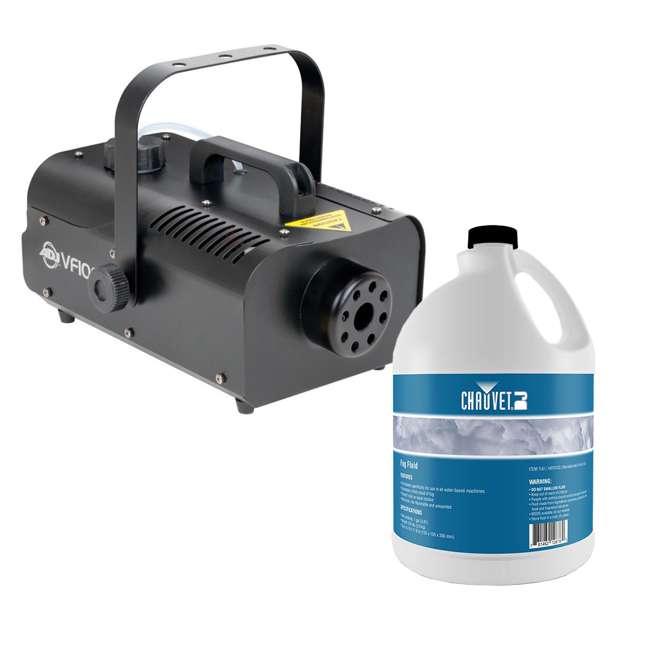 VF1000 + FJU American DJ 1000W Fog Machine with Remotes + Chauvet Fog Juice Fluid (1 Gallon)