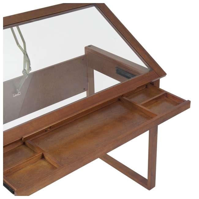 STDN-13280 Studio Designs Wooden Glass Top Ponderosa Drafting Desk (2 Pack) 5