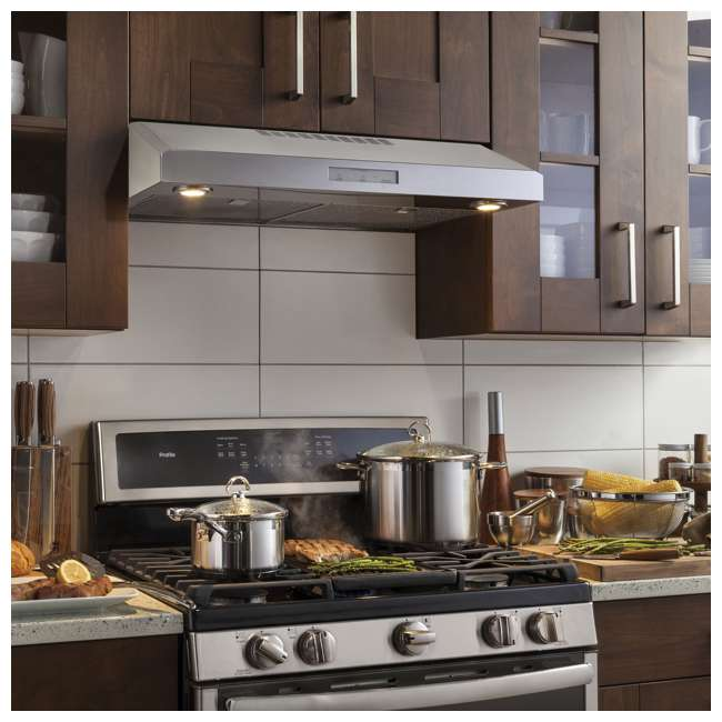 PVX7300SJSS-U-C GE Profile 30 Inch Under the Cabinet Hood Stainless Steel Range Vent (For Parts) 6