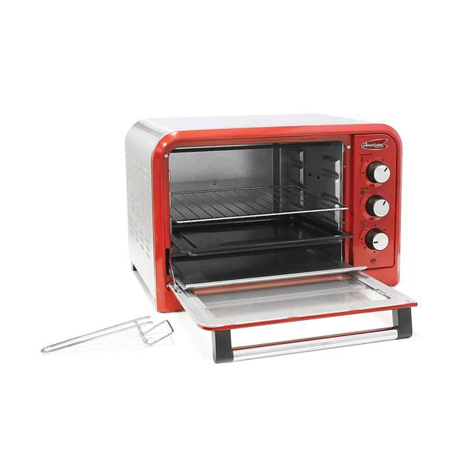ERO2600R Maximatic Americana Kitchen Toaster Oven, Red