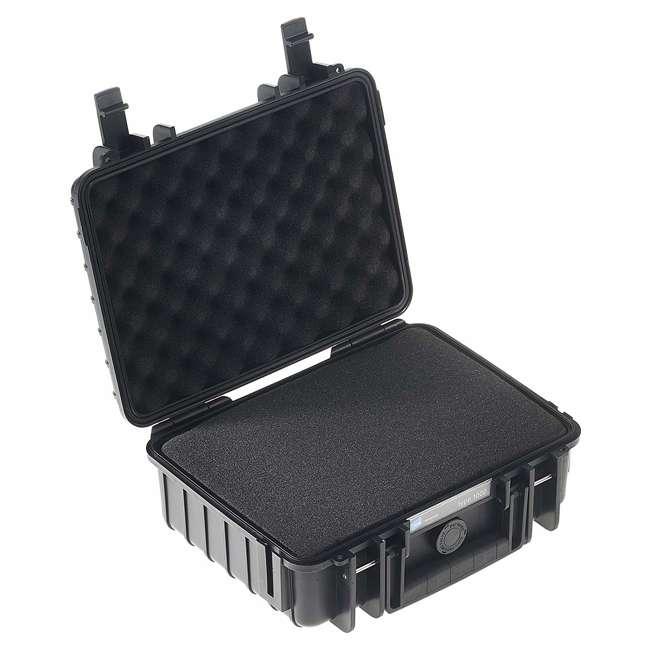 1000/B/SI + CS/500 B&W International 1000/B/SI Plastic Outdoor Case w/ SI Foam & Shoulder Strap 1