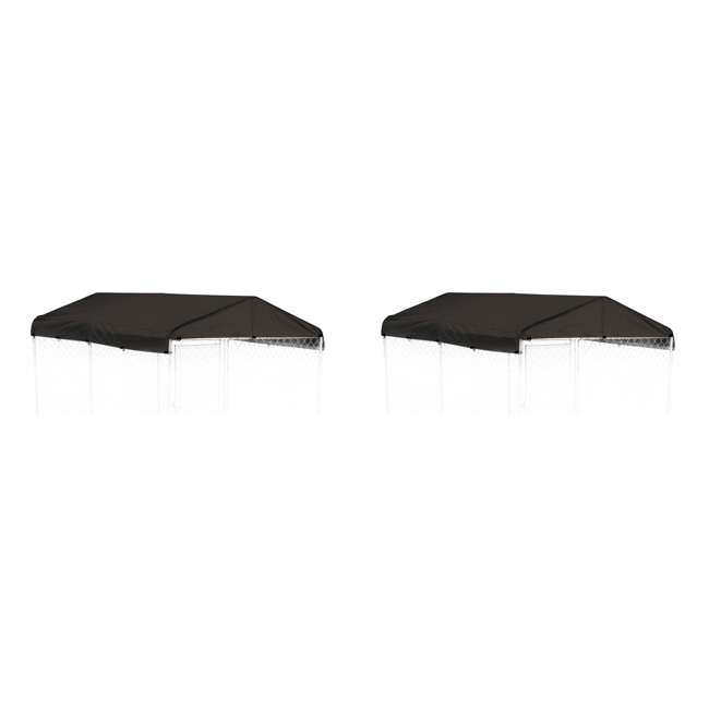 CL-00301 WeatherGuard 5 x 10-Foot Dog Run Kennel Roof Cover (2 Pack)