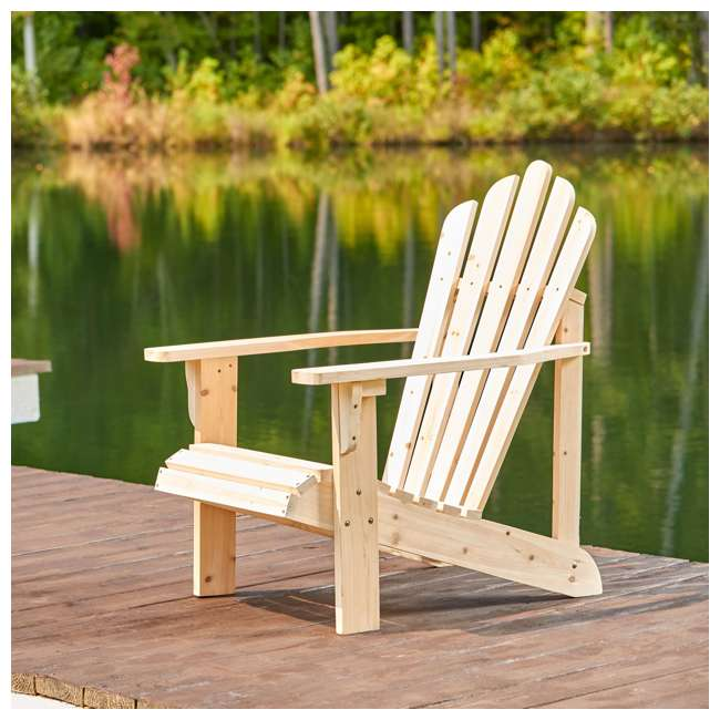 SHN-4611N Shine Company Westport Adirondack Chair, Rust Brown 4