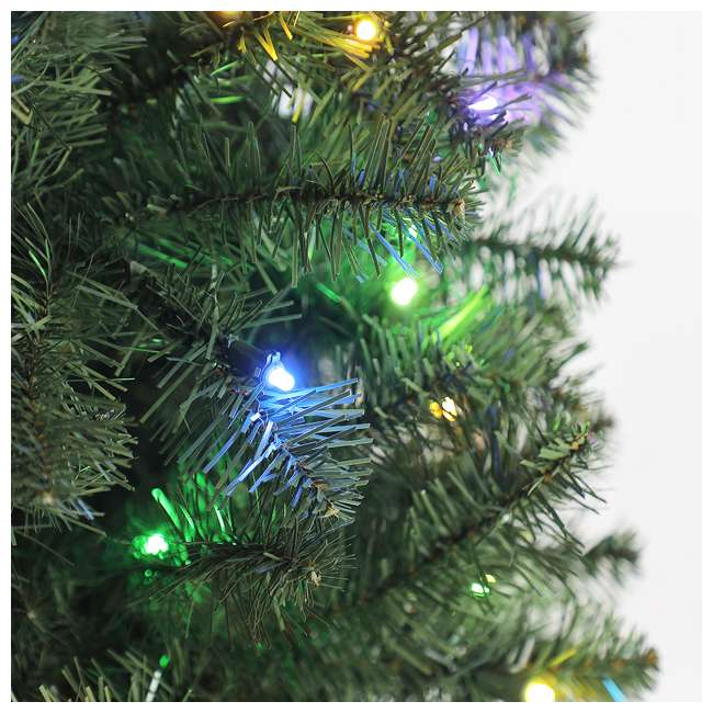 TG70CH119P00 Home Heritage 7' Color Blast Multiple Light Function Micro Dot LED Christmas Tree 3