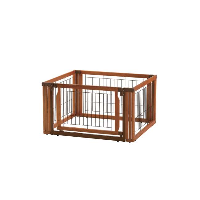 94196 Richell Convertible Elite 4 Panel 3 in 1 Pet Kennel and Gate, Brown  1