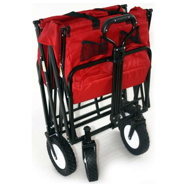 MAC-WTC-109-RED-U-A Mac Sports Collapsible Steel Frame Outdoor Utility Cart(Open Box) (2 Pack) 4