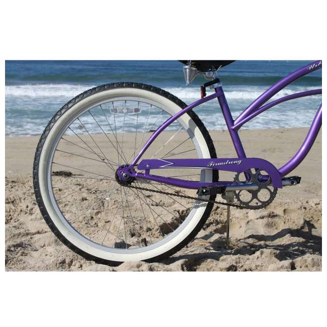 "15005 Firmstrong Urban Lady Women's 24"" Beach Cruiser Bike, Purple 3"