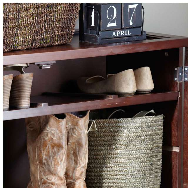 BOX0021721800 Merry Products 6-Tier Wooden Shoe and Storage Dresser 2