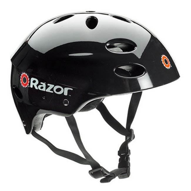 13125E-BK + 97778 + 96785 Razor E125 Motorized 24-Volt Scooter, Black + Youth Helmet + Elbow & Knee Pads 2