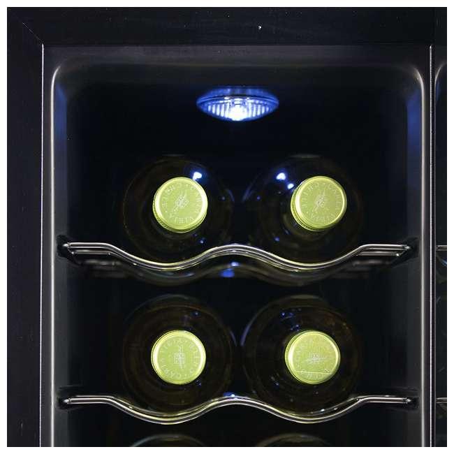 BWT12TB-U-A Black + Decker Thermoelectric 12-Bottle Wine Cellar, Black (Open Box) 5